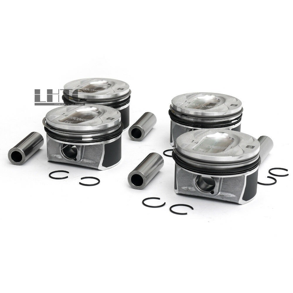 4x 03C107065BL Ø76,51mm Pistons Rings Ø19mm Wrist Set For V W Golf Passat CC <font><b>Tiguan</b></font> <font><b>1.4</b></font> <font><b>TSI</b></font> For <font><b>1.4</b></font> <font><b>TSI</b></font> / TFSI Turbo/Supercharge image