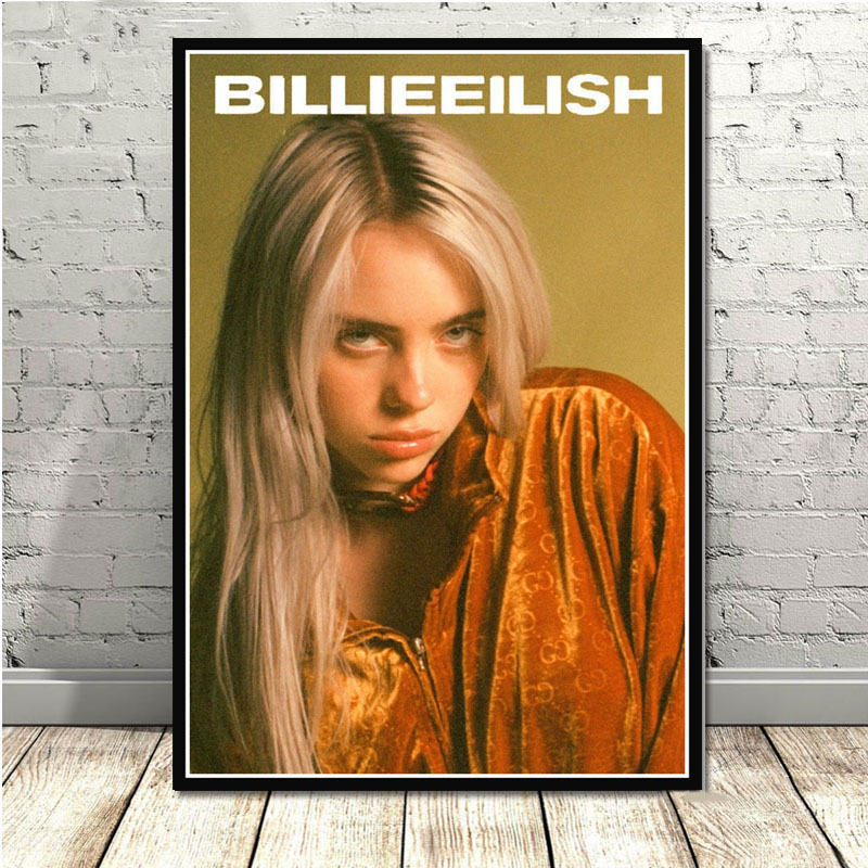 Poster Billie Eilish Hot Music Singer Star Art Hot No Frame