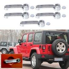 DWCX 5pcs ABS Plastic Triple Chrome Door Handle Cover Trim For Jeep Wrangler JK Liberty Dodge Nitro 2008 2009 2010 2011 2012