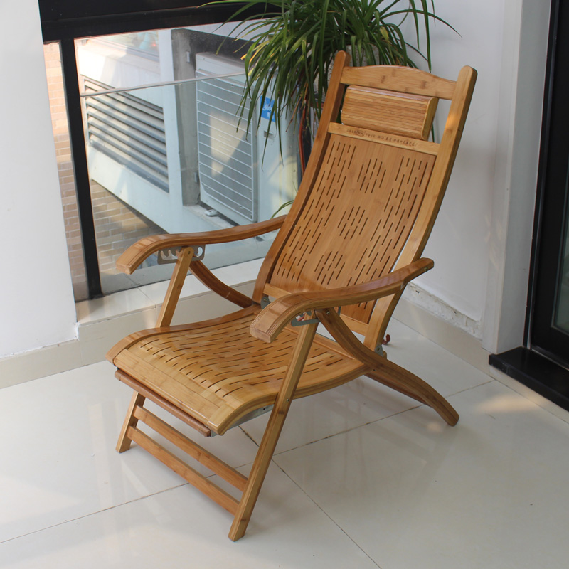 folding bamboo chair siesta lounge wicker chairs rocking wood lazy outdoor balcony elderly in. Black Bedroom Furniture Sets. Home Design Ideas