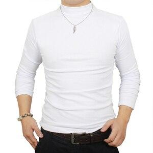 Image 2 - Camisa de t dos homens t shirt homem inverno térmica meia gola tshirt outono primavera camisetas mens quentes básicas grossas shirts tops roupas