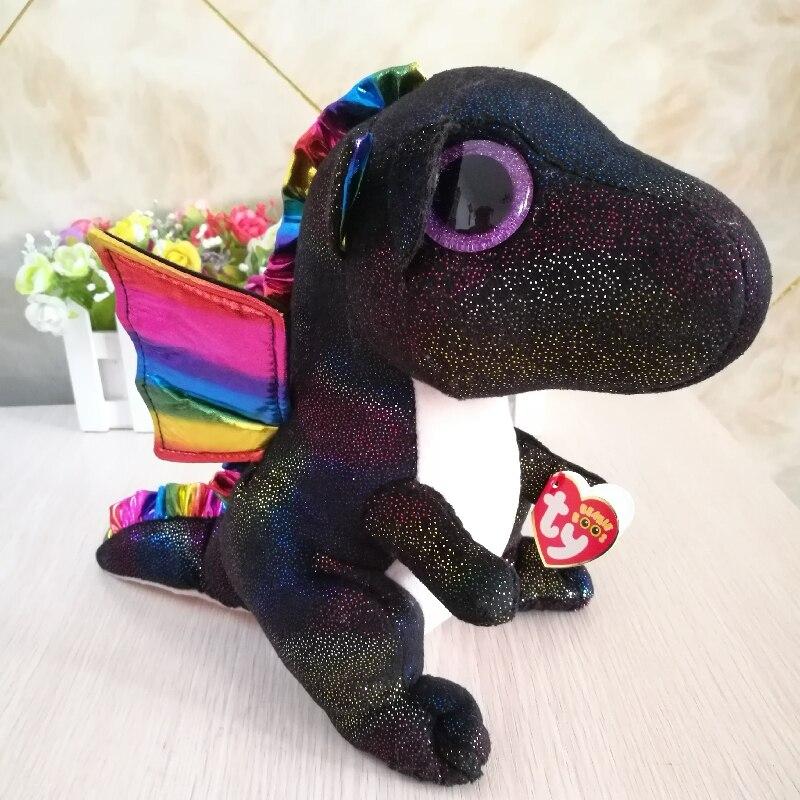 25cm 10 Ty Original Beanie Boos Plush Toy Anora Black Dragon