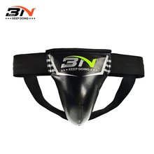 BNPRO S L kids Adult jockstrap PU leather Crotch Protector GROIN GUARD with Breathing hole Taekwondo katrate Boxing mma(China)