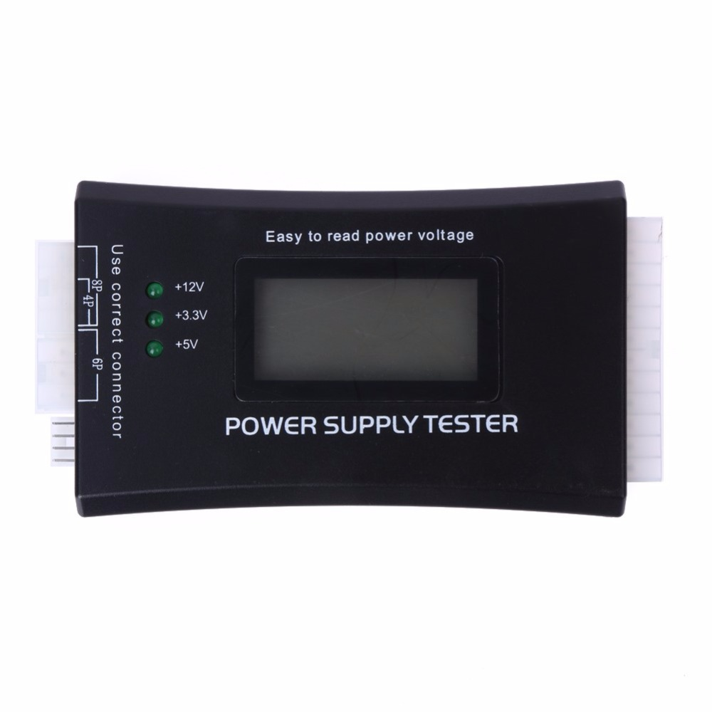 LCD Display Digital PC Computer 20/24 Pin Power Supply Tester Checker Power Measuring Diagnostic Electrical Supply Tester Tools