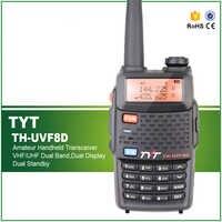 Brand New TYT Walkie talkie TH-UVF8D Dual Band 136-174Mhz & 400-520Mhz Two Way Radio Scrambler Function