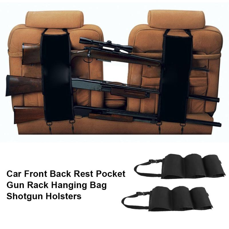 2 unids piezas de la parte delantera del coche descanso bolsillo de la pistola perchero colgante bolsa Unisex Holsters de escopeta bolso colgante Rifle escopeta accesorios de caza