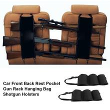 2Pcs Car Front Back Rest Pocket Gun Sling Rack Hanging Bag Unisex Shotgun Holsters Hanging Bag Rifle Shotgun Hunting Accessories