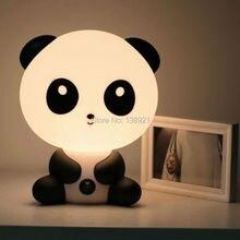 Lámparas de Mesa para habitación de bebé, luz de noche de dibujos animados, lámpara de cama para niños, lámpara de noche para dormir con forma de Panda/perro/oso, enchufe para UE/EE. UU.