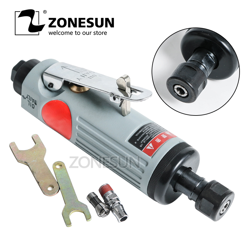ZONESUN R-7306 Pneumatic Die Grinder Air Die Grinder Grinding Mill Engraving Tool Polishing Machine for Pneumatic Tools applicatori di etichette manuali