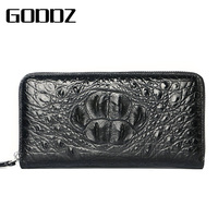 Luxury Crocodile Clutch Wallet Genuine Leather Wallet Men Fashion Purse Alligator man wallet leather with coin pocket Clutches