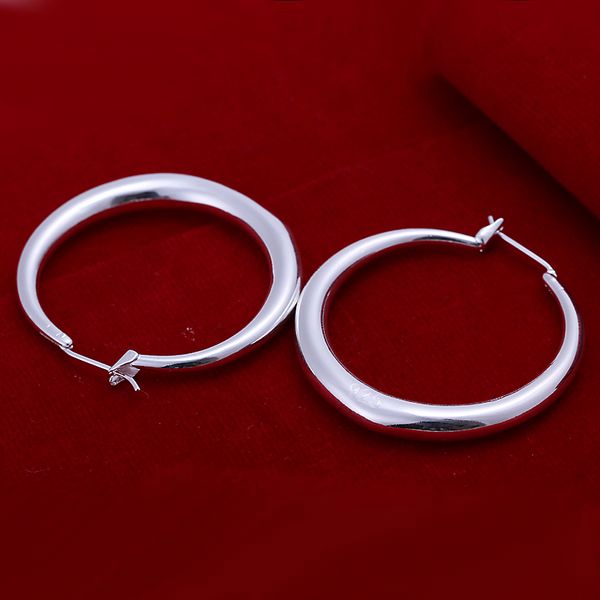 925 sterling silver jewelry silver hoop earrings hot sale