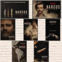 Nuevo Steve Murphy crimen Columbia temporada Narcos serie de TV Vintage afiche decorativo DIY arte de la pared de Casa Bar carteles de decoración