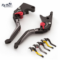 FX Aluminum 3D Rhombus Motorcycle Folding Extendable Brake Clutch Lever For Yamaha MT09 MT07 MT10 MT 07 MT 09 FZ 07 FZ 09 FZ10