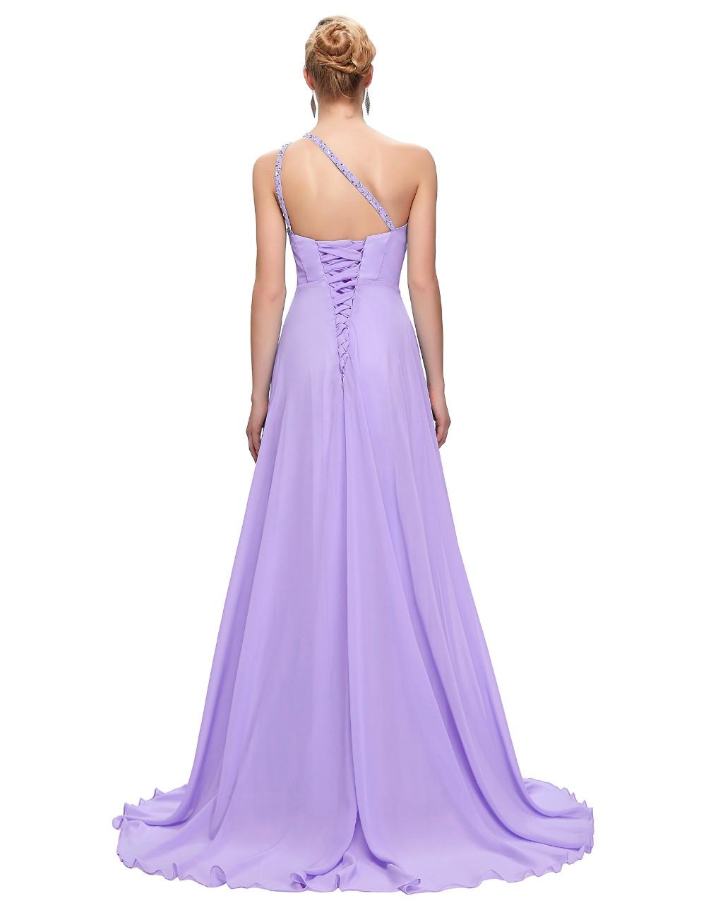 Elegant One Shoulder Long Bridesmaid Dress 20