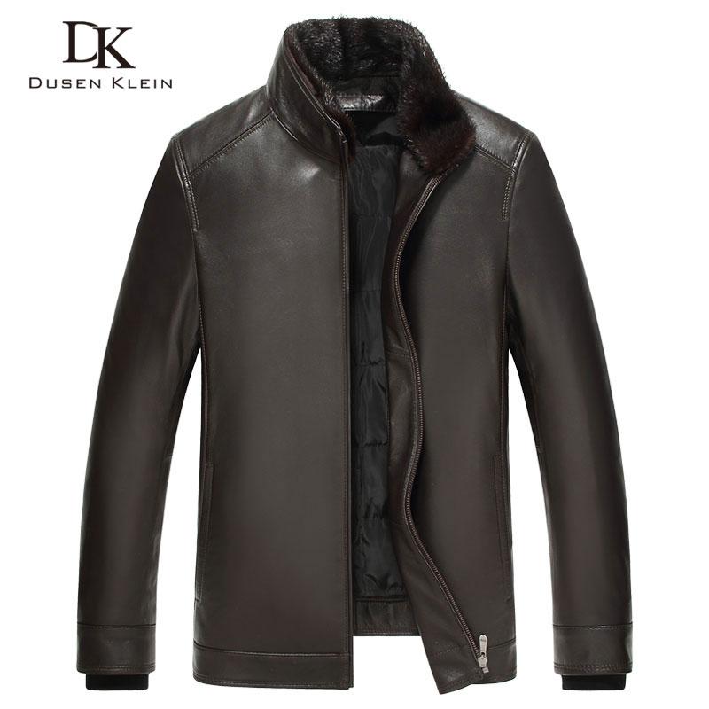 Jachetă de piele de lux pentru bărbați Dusen Klein 2017 Noua - Imbracaminte barbati
