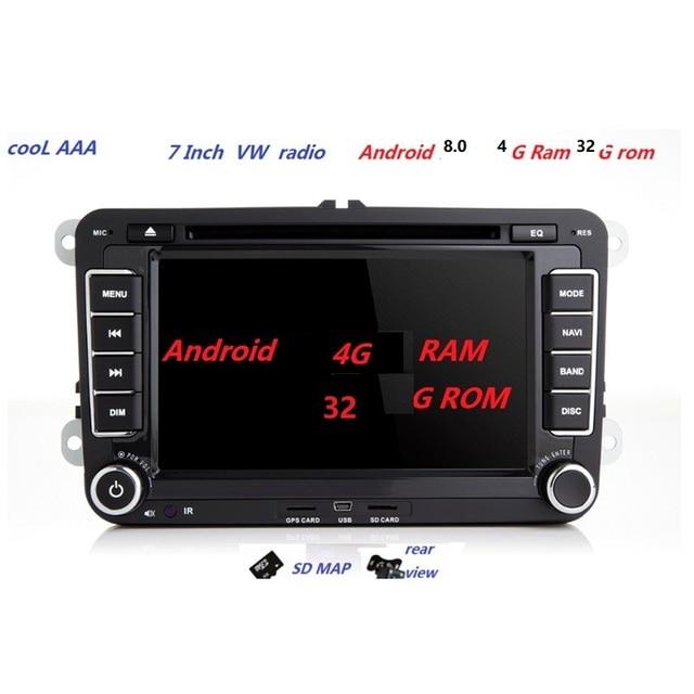 US $259 0 |Android 8 0 Car DVD Player For RNS510 VW radio Golf 5 6 Jetta  Mk5 Mk6 Passat CC Tiguan polo Eos sharan 3G 4G wifi bluetooth-in Car Radios