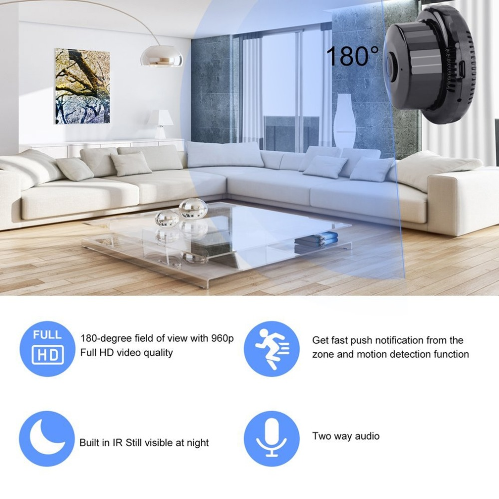 720P WiFi IP Camera IR Night Vision Two-way Audio Wide Angle Smart Home Security Cam Support Motion Detection720P WiFi IP Camera IR Night Vision Two-way Audio Wide Angle Smart Home Security Cam Support Motion Detection