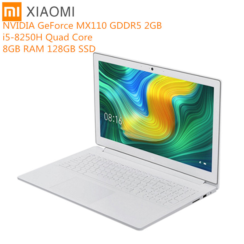 Original Xiaomi Mi Notebook 15.6 Inch Windows 10 Intel Core I5 - 8250H Quad Core 8GB RAM 128GB SSD Bluetooth GeForce MX110