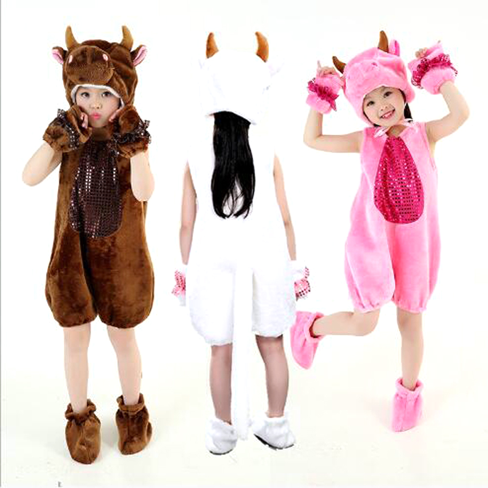 Bazzery 11 Kinds Animals Cosplay Clothes for Children Unisex Xmas Party Cosplay Costume Cotton Modern Stage Show Drama Wear