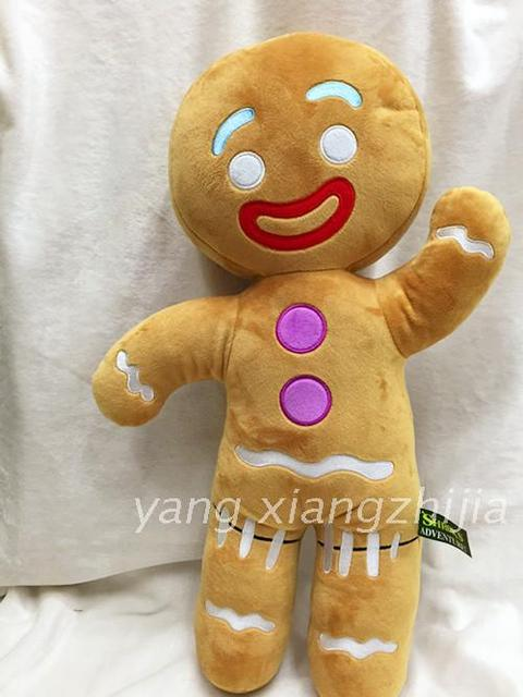 Official 48 Cm Shrek Gingerbread Man Bigheadz Stuffed Plush Toys For