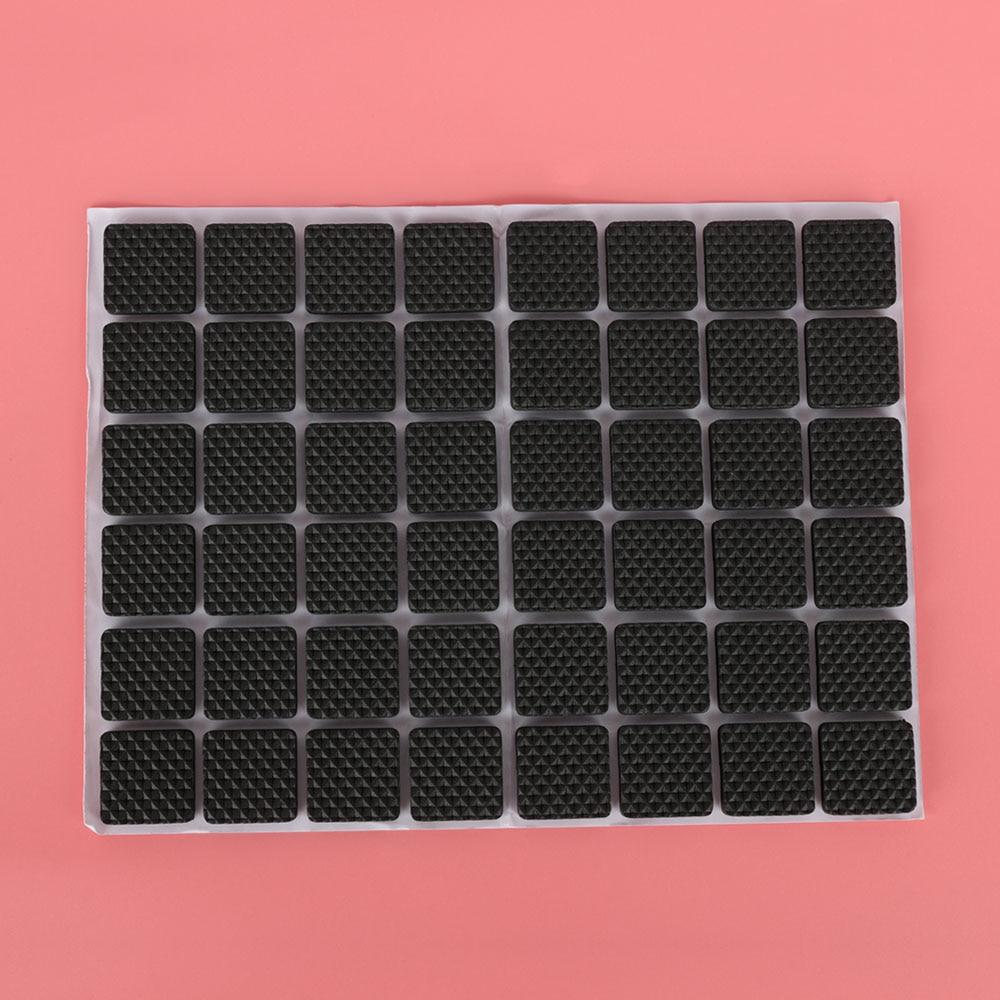 48 шт напольные протекторы коврик нескользящий самоклеющийся мебельный резиновый коврик для ног стол стул круглый липкий коврик для ног дивана стула - Цвет: Square