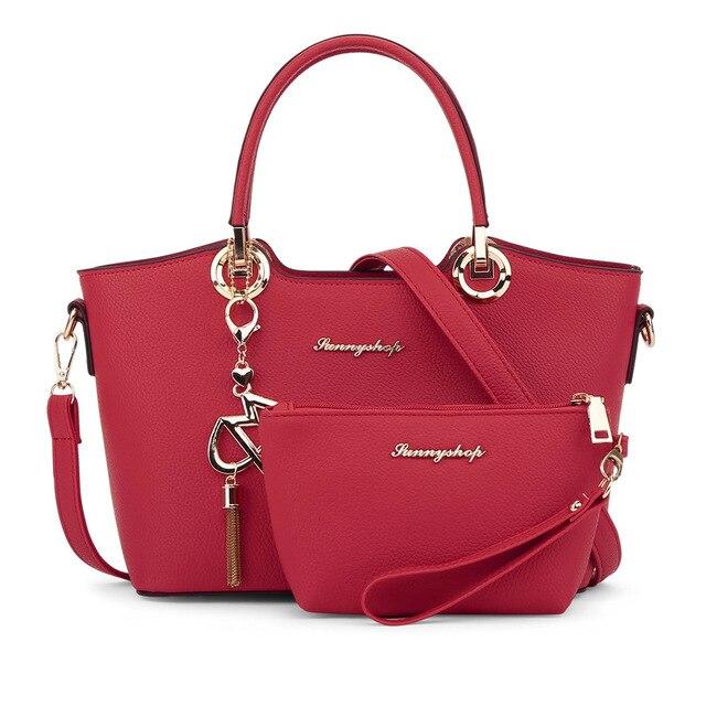 2017 Fashion  High Quality Famous Designer Brand Ladies BagsWomen Leather Handbag Women Messenger Bags Crossbody Bags 2 Bags/set цена