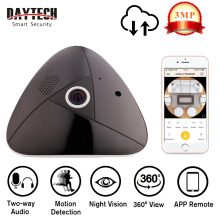 DAYTECH WiFi IP Camera Wireless Surveillance Camera 3.0MP 360 Degree Panoramic Baby Monitor Night Vision Motion Detection VR04