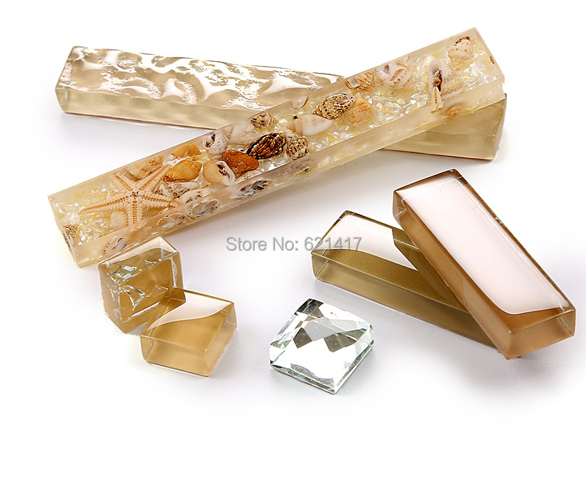 Beige kristal kaca, Strip shell, Ubin mosaik, Hmgm1110 backsplash - Dekorasi rumah - Foto 3