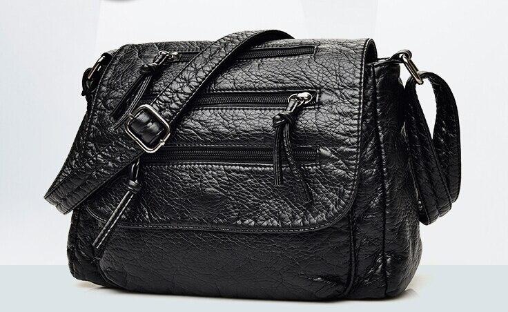Модная женская сумка из мягкой кожи повседневные плеча небольшой сумка женская сумочка черный sun9058S
