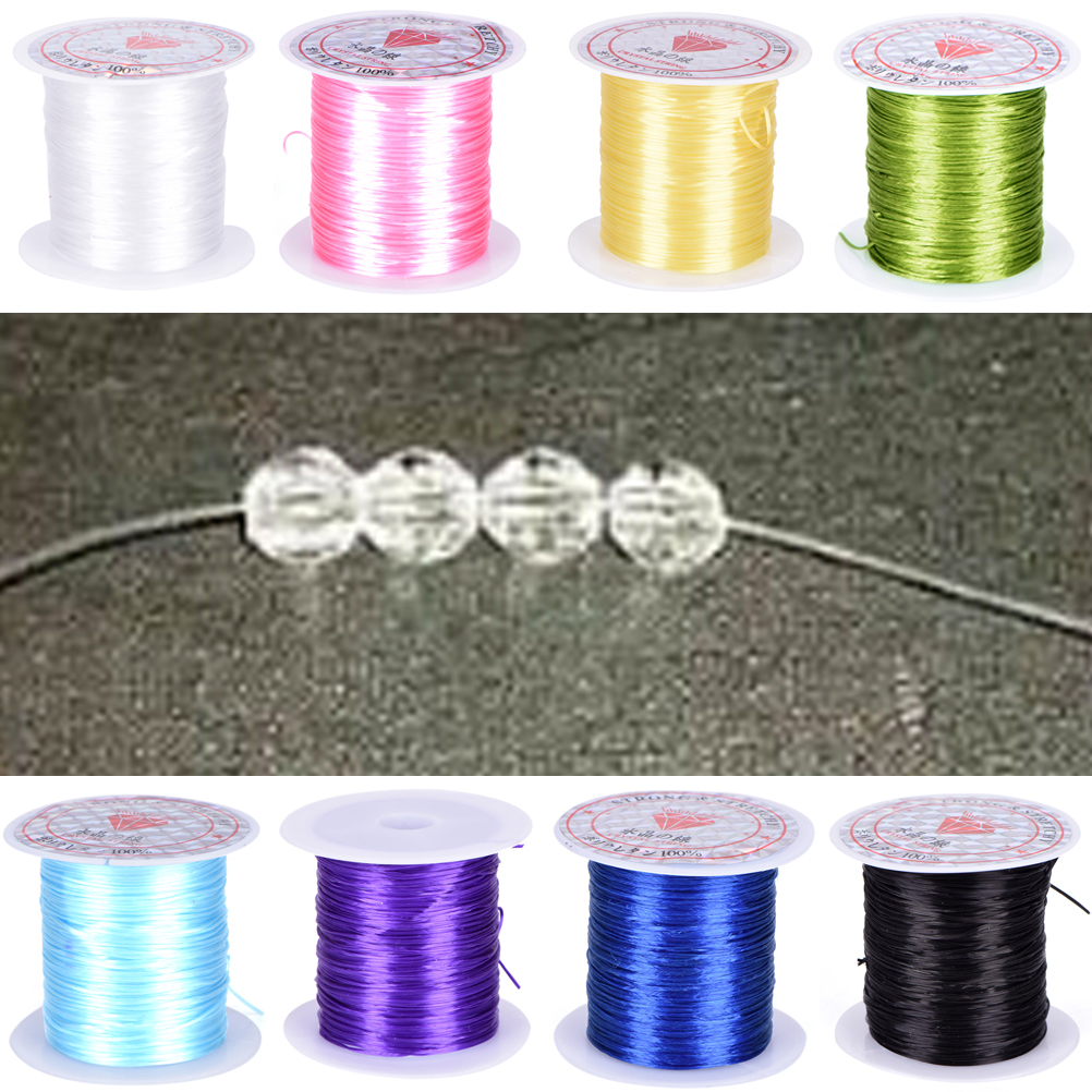 0.8mm DIY Crystal Beading Stretch Cord Elastic Line Transparent Clear Round Beading Wire/Cord/String/Thread Jewelry Making цена