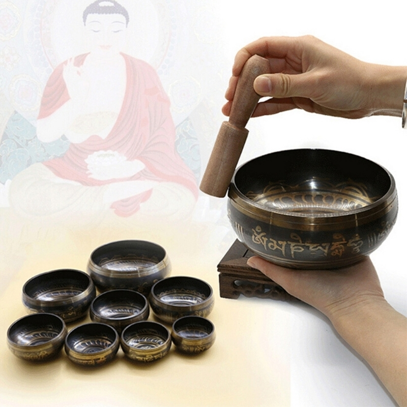Tibetan Singing Bowl Buddhism Hand Hammered Yoga Copper Chakra Meditation Gift