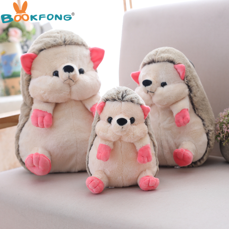BOOKFONG 1pc 25/35cm Cute Lovely Hedgehog Plush Doll Staffed Animal Plush Toys Soft Cartoon Pillow Kids Toy Kawaii Gift for Girl
