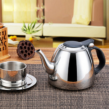 1.2L High Quality Induction Cooker Tea Pot Creative Kitchen Tools Stainless Steel Water Kettle Flat Bottom Coffee Kettle 1 2l 304 stainless steel high quality flat tea pot coffe drip kettle induction cooker water kettle hot water for barista