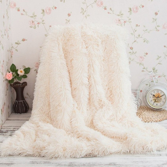Super Soft Long Shaggy Bedspread Fuzzy Fur Faux Elegant Cozy With Fluffy  Sherpa Throw Sofa Blanket Bed Sofa Blanket Gift