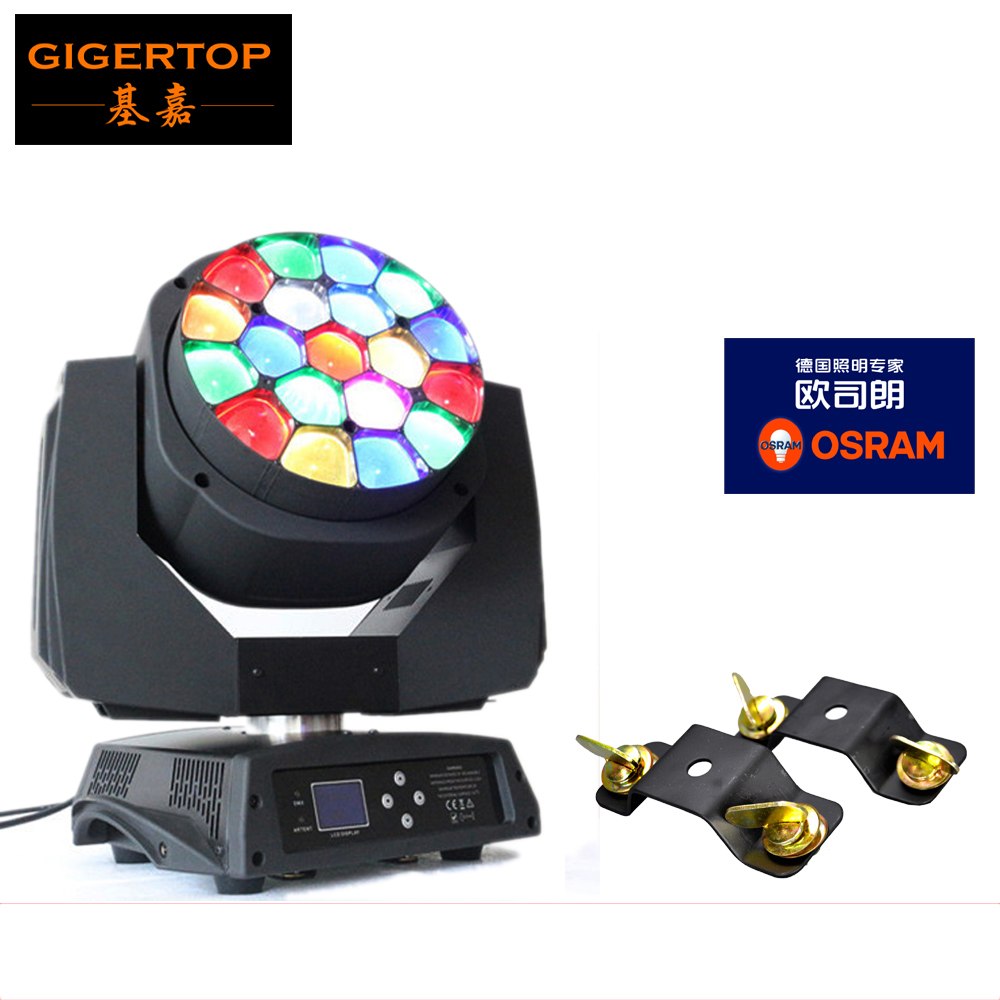 Freeshipping Sample Big B- Eye Led Moving Head Light 19*15W RGBW 4IN1 Color Mixing 450W Osram Led Lamp with Zoom Function DMX