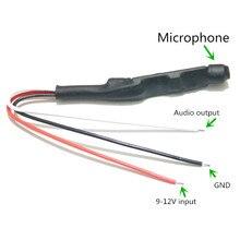 CS-05D мини Регулируемый монитор звука, микрофон, для камеры видеонаблюдения