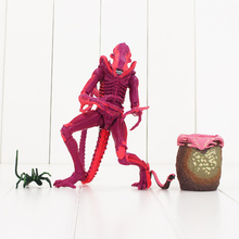 22cm NECA Xenomorph Warrior Alien VS Predator Action Figure Toy Red Alien With Chestburster Facehugger Collectible Model Doll