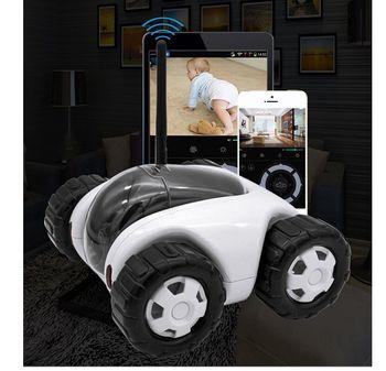 P2P Nirkabel Ip Kamera Mini Mobil Robot Tipe Keamanan Rumah Bergerak Kamera CCTV Nirkabel Recharge 720 P Ip Kamera