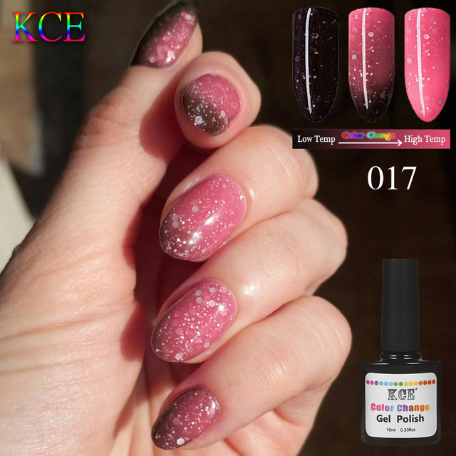 Kce Soak Off Gel Temperature Change 3in1 Color Nail Polish Under Uv Lamp