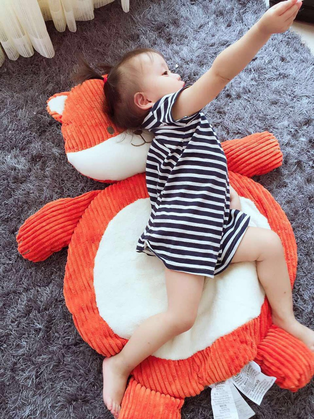 high quality child climb pad cute elephant fox plush animal baby play mat  baby gym mat children developing carpet toy baby toy (4)