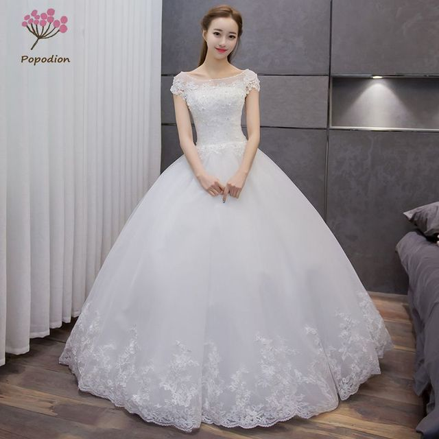 67ca4e4fc6 US $147.89 48% OFF|Aliexpress.com : Buy vestidos de noiva Cutensil Lace  Wedding Dresses Ball Gown Bridal Gown Plus Size Pregnant Woman Wedding  Dress ...
