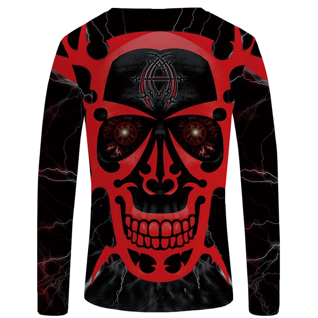 3D SKULL THEMED LONG SLEEVE T-SHIRT II (7 VARIAN)