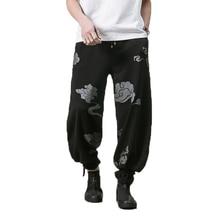 2019 men chinese style Pants Male Baggy Cotton Linen Harem Pants Men Wide Leg Trousers Man Cross-pants pantalon hombre fashion cotton linen harem pants men baggy pants japanese style mens crotch wide leg pants casual loose boho trousers