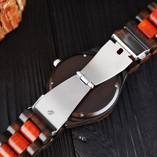Luxury Gift Full Wooden Watches Man Creative Sport Bracelet Analog Nature Bamboo Quartz Wristwatch Male Clock Relogio Masculino