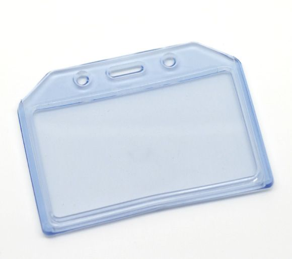 blue horizontal plastic id card badge holder 95x73cm3 3 - Plastic Id Card Holder