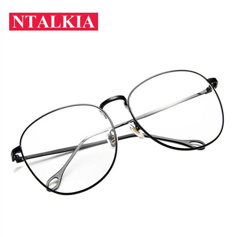 f07f574ee7f39 Fashion Retro Oversize square nerd glasses clear lens frame unisex gold Big  metal Eyeglasses optical men