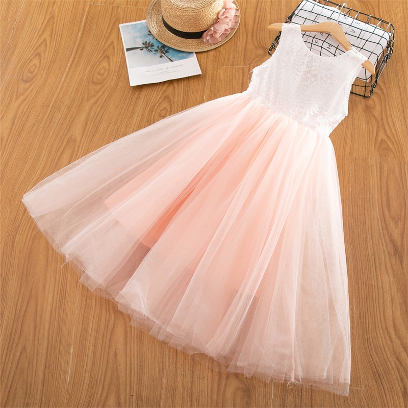 HTB1Y5JCd8iE3KVjSZFMq6zQhVXav Children Girls Embroidery Clothing Wedding Evening Flower Girl Dress Princess Party Pageant Lace tulle Gown Kid Girls Clothes