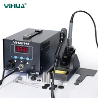 YIHUA948 220V 110V Digital SMD Soldering Station High Quality Soldering Iron With Suction Tin Gun Handle