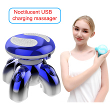 Electric Portable Luminous Body Massager Relieving Stress Neck Shoulder Handheld Massage Tool Health Care Vibrating Massager new professional dual head health care electric massage hammer full body massager