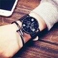 2016 Новая Мода Кварцевые Часы Мужчины Женщины Часы Личность Наручные Часы Женский Часы Montre Роковой Relógio Feminino OP001